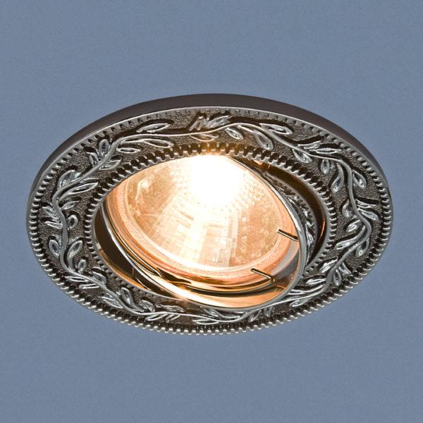 0510dcdf8a64b29996a6dbcde7aaf157 600x600 - встр. точечный светильник Elektrostandard 713 черный/серебро