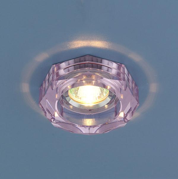 09021472dbc90c7d9eaaffb1d5490412 600x601 - встр. точечный светильник Elektrostandard 9120 розовый/серебряный