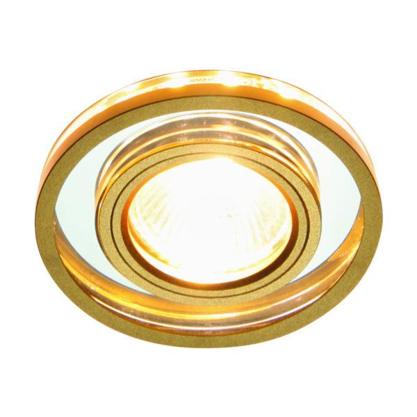 0d2948e48be7d95fa486794196c5d192 600x600 - встр. точечный светильник Elektrostandard 7021 SL/GD зеркальный/золото