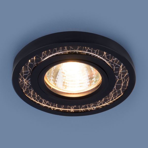 1270e7dd539506c6ab3d072a29385b74 600x600 - встр. точечный светильник Elektrostandard 7020 BK/SL черный/серебро