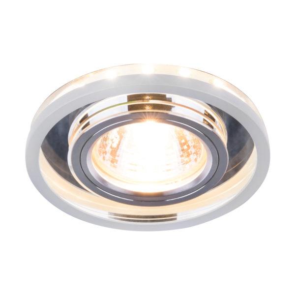 1e84f63557e19241e9ff280f4a702513 600x600 - встр. точечный светильник Elektrostandard 7021 SL/WH зеркальный/белый
