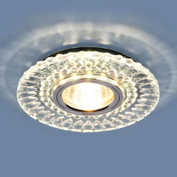21026eda3278c2b55f2413c9f3f1f3dd 600x600 - встр. точечный светильник Elektrostandard 2197 MR16 CL/SL прозр./серебро