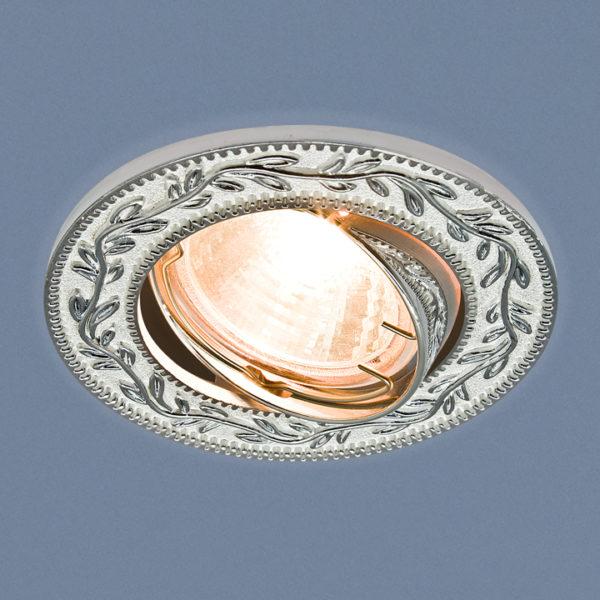 2490bb9d67c0445afd32ab6e5320d5fe 600x600 - встр. точечный светильник Elektrostandard 713 белый/серебро