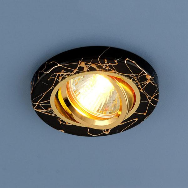 268e11875bbb2934476cd7f30ee73f89 600x600 - встр. точечный светильник Elektrostandard 2050 BK/GD черный/золото