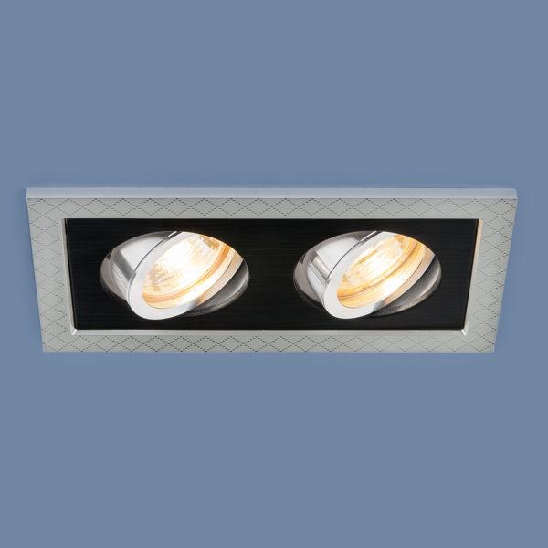 2aa840172d3d51199f6bb3464f81b225 600x600 - встр. точечный светильник Elektrostandard 1041/2 MR16 SL/BK серебро/черный