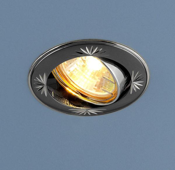 37620c8c9058816d953836d94fa2a0b7 600x583 - встр. точечный светильник Elektrostandard 104A черный/серебро