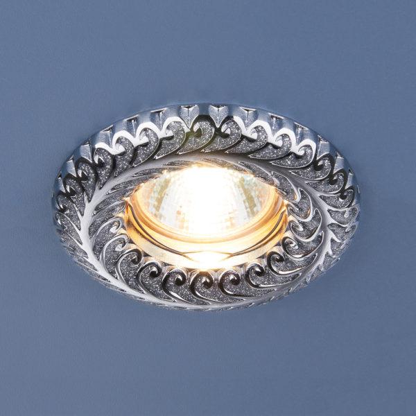 54f985ec3d5f23e7cd759ba25447b2ff 600x600 - встр. точечный светильник Elektrostandard 7001 серебряный блеск/хром