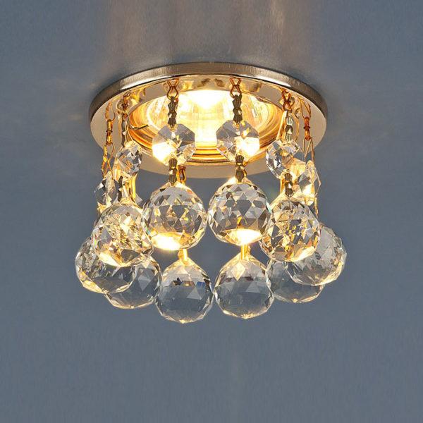 59341233a3ddb2ee581405bfdada1e02 600x600 - встр. точечный светильник Elektrostandard 2051-C золото/прозр.