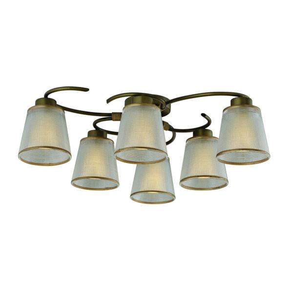 656433be338540f79da154e569584aa3 600x600 - Люстра потолочная Vestini 16308/6 античная бронза/прозр.