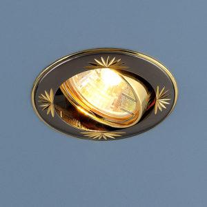 68ca62d8386ffe2f82ef6d867e331ead 300x300 - встр. точечный светильник Elektrostandard 104A черный/золото