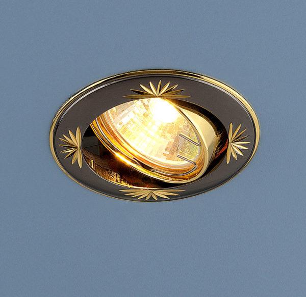 68ca62d8386ffe2f82ef6d867e331ead 600x583 - встр. точечный светильник Elektrostandard 104A черный/золото