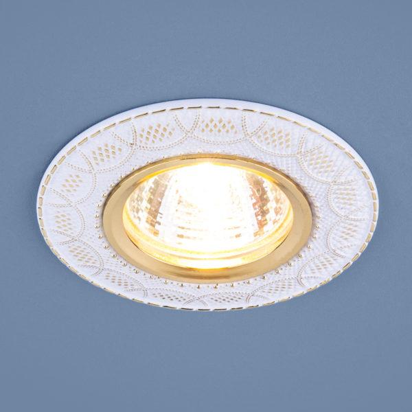 6a2e656808888d85df15a74e4c98545d 600x600 - встр. точечный светильник Elektrostandard 7010 MR16 WH/GD белый/золото