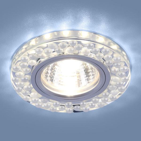 6dc86f0cd61bebe5faea12ec206f82f5 600x600 - встр. точечный светильник Elektrostandard 2194 MR16 SL/WH зеркальный/белый