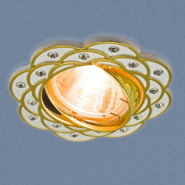 745c18a0cb4dbe1fbdaa39e328cc1655 600x600 - встр. точечный светильник Elektrostandard 8006 серебро/золото