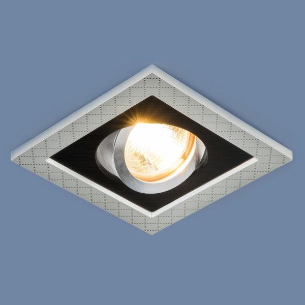 76a36979856b9947a90751a2e445abbe 600x600 - встр. точечный светильник Elektrostandard 1041/1 MR16 SL/BK серебро/черный
