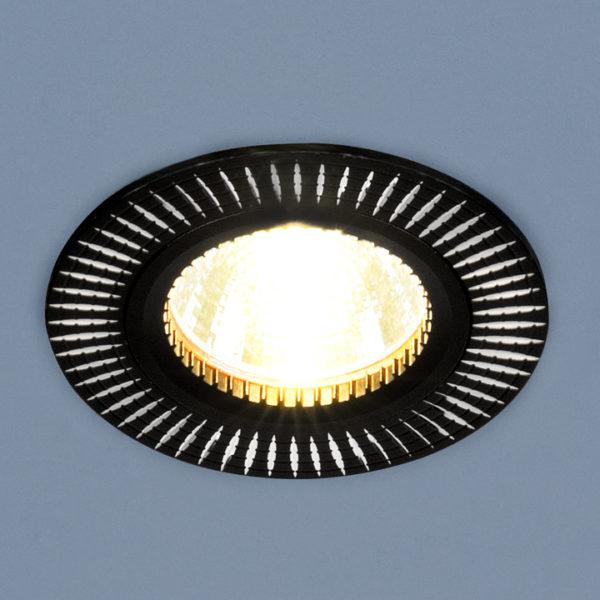 7c7b97fabf7ebd70ad80c342e1f25a0f 600x600 - встр. точечный светильник Elektrostandard 2003 черный/серебро