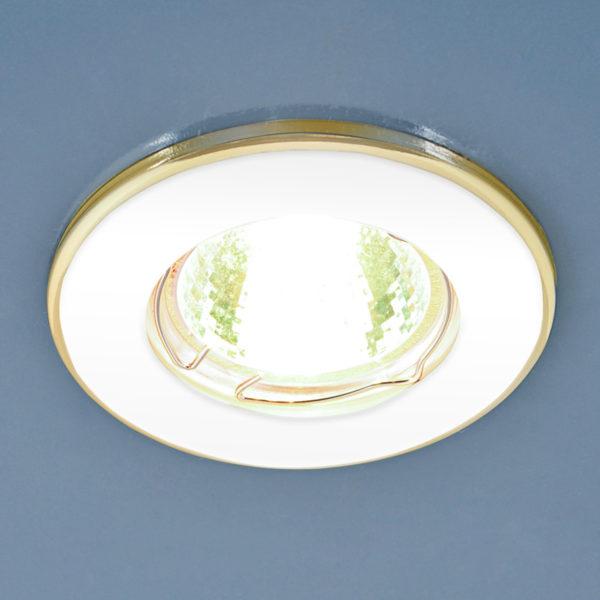 7ccc676fa37542fcaef9d1c0c4c806bb 600x600 - встр. точечный светильник Elektrostandard 7002 MR16 WH/GD белый/золото
