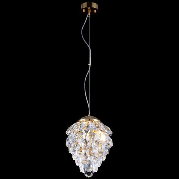 817972fa8988da34c7ce96d9c6a432ec 600x600 - Подвесной светильник Crystal Lux CHARME SP1+1 LED GOLD/TRANSPARENT