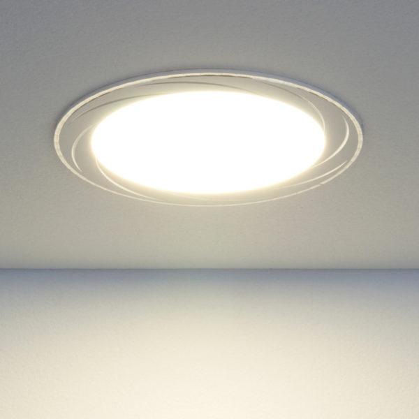 8ae6bac47095a13bbb3d1d1b968b5a2c 600x600 - встр. точечный светильник Elektrostandard DLR004 12W 4200K WH белый