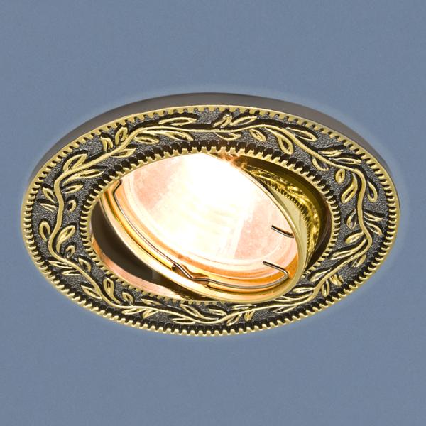 b4bb6145b2825238e55754d3dfde6687 600x600 - встр. точечный светильник Elektrostandard 713 черный/золото