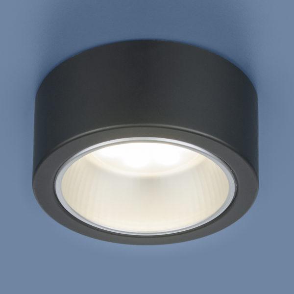 b75726e12a6f301ce77edc05becd1a62 600x600 - Накладной точечный светильник Elektrostandard 1070 GX53 BK черный
