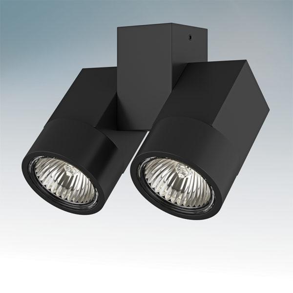 bfcdd38cdb15e4eb12ffce13684570f0 600x600 - Накладной точечный светильник Lightstar 051037 ILLUMO X2 NERO