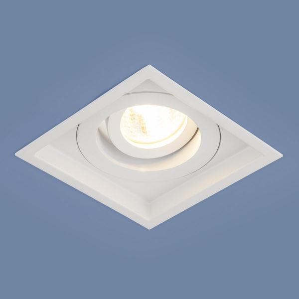 ca5ce747f28e0033e4b62f365416f983 600x600 - встр. точечный светильник Elektrostandard 1071/1 MR16 WH белый