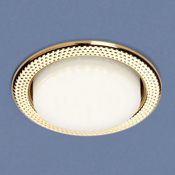 d31a447d42c8faeed355a0a949f4d60c 600x600 - встр. точечный светильник Elektrostandard 1066 GX53 GD золото