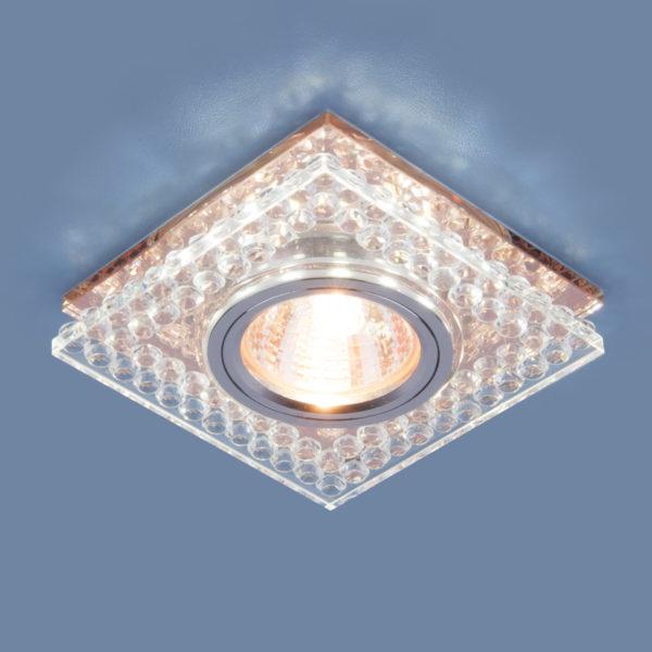 d3584fb9ef8091e564621804b8662408 600x600 - встр. точечный светильник Elektrostandard 8391 MR16 CL/GC прозр./тон.