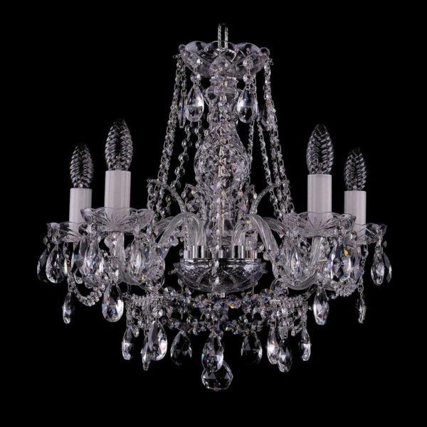 d6006e134f7ea0e76b60b1f0b373c90e 600x601 - Люстра подвесная Bohemia Ivele Crystal 1411/5/160/Ni
