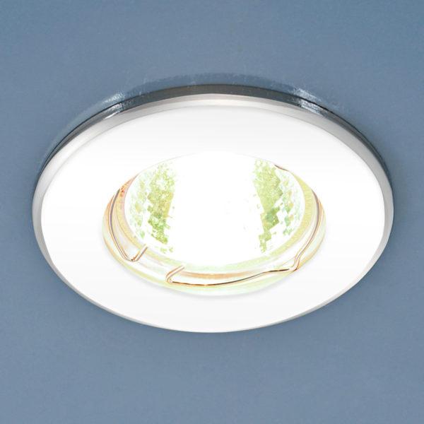 d7015bd90d776bc55396c30337bfe770 600x600 - встр. точечный светильник Elektrostandard 7002 MR16 WH/SL белый/серебро