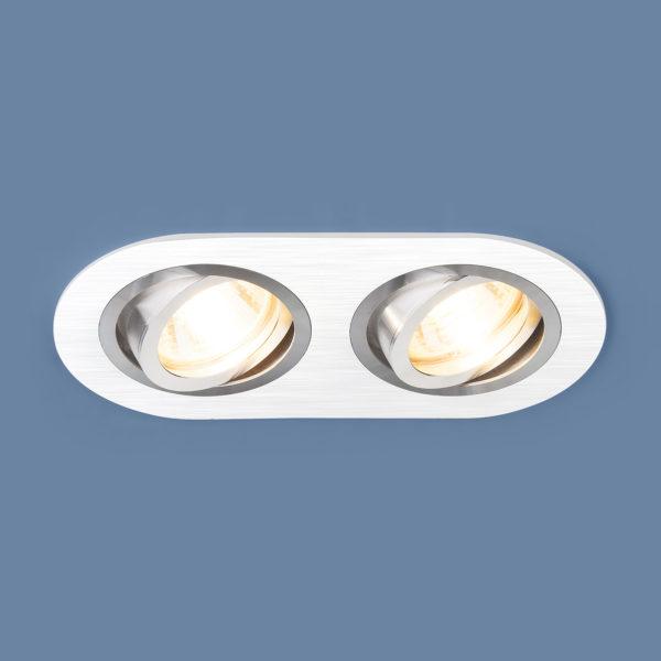 dad24614956711fb7e59ca144f8e3ffc 600x600 - встр. точечный светильник Elektrostandard 1061/2 MR16 WH белый