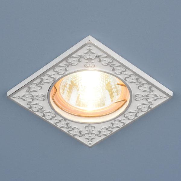 dadc17b8250fe2cd3a6cee01b5f3dd26 600x600 - встр. точечный светильник Elektrostandard 120071 белый/серебро