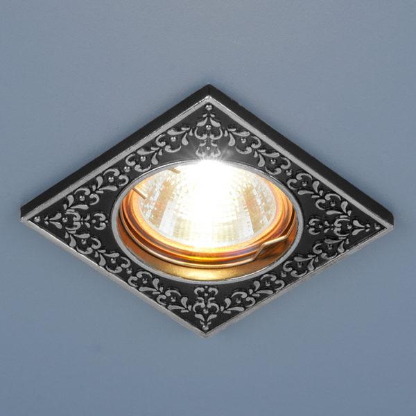 dc9599c7a9d81eb173afb7f8e8d84ef4 600x600 - встр. точечный светильник Elektrostandard 120071 черный/серебро