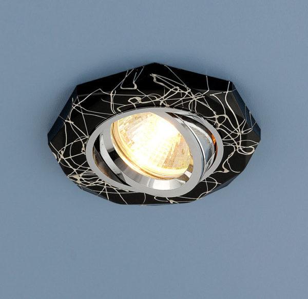 dcd257105229ed47c8e7141c4bd18b10 600x583 - встр. точечный светильник Elektrostandard 2040 черный/серебро