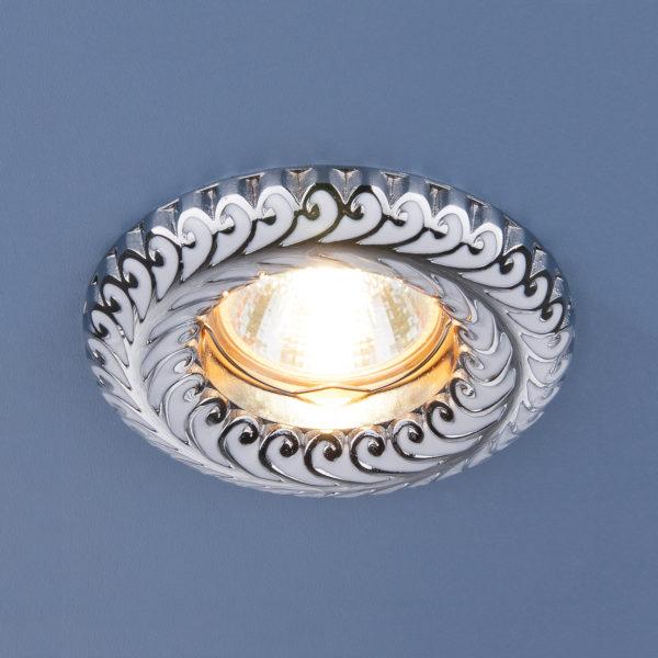 ddaddf29bbc1e07022a16867017e6653 600x600 - встр. точечный светильник Elektrostandard 7001 белый/серебро