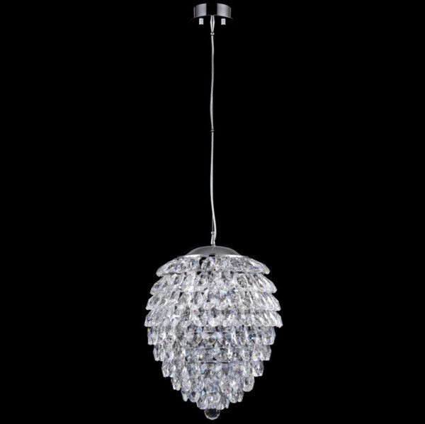 e6fab7683c7de461761aaeb65a03976f 600x599 - Подвесной светильник Crystal Lux CHARME SP3+3 LED CHROME/TRANSPARENT