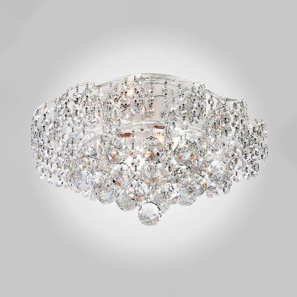 ec40bd2a77bec867c88eeb9b647ae6f3 600x600 - Потолочный светильник Eurosvet 16017/6 белый с серебром