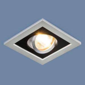 edd177a4e7cea19aff8d60a8a162609e 300x300 - встр. точечный светильник Elektrostandard 1031/1 MR16 SL/BK серебро/черный