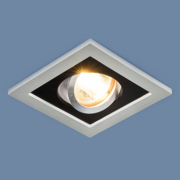 edd177a4e7cea19aff8d60a8a162609e 600x600 - встр. точечный светильник Elektrostandard 1031/1 MR16 SL/BK серебро/черный