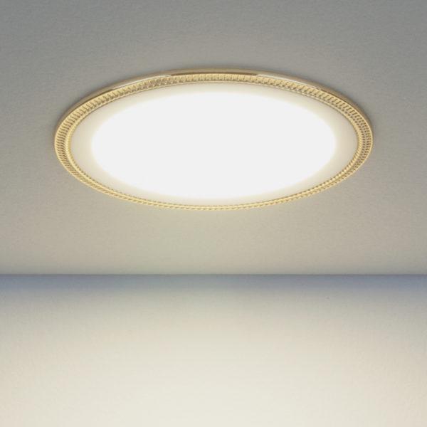 ef5c02f59f6fa2f42cccd2d4563e573b 600x600 - встр. точечный светильник Elektrostandard DLR006 12W 4200K PS/G перламутровый серебро/золото