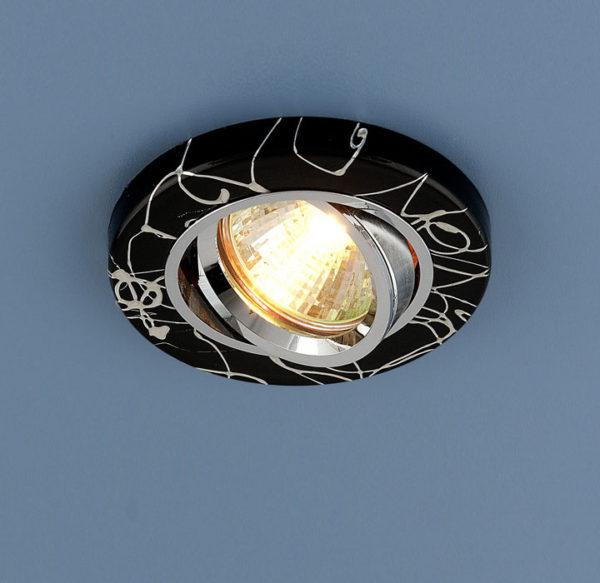 f226108e541e6ef0bdb7597955849f82 600x583 - встр. точечный светильник Elektrostandard 2050 черный/серебро