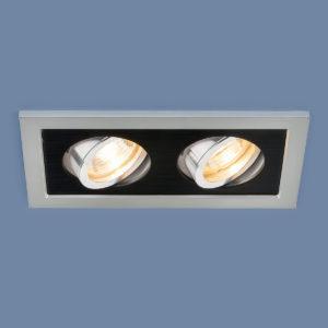 f97d0be51ca7b1ebb1f46019363c6407 300x300 - встр. точечный светильник Elektrostandard 1031/2 MR16 SL/BK серебро/черный