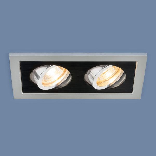 f97d0be51ca7b1ebb1f46019363c6407 600x600 - встр. точечный светильник Elektrostandard 1031/2 MR16 SL/BK серебро/черный