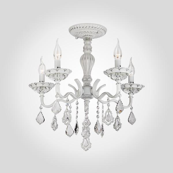 f9b7466fa70dc4111fbd529dc2adf291 600x600 - Люстра подвесная Eurosvet 10049/5 белый с серебром/прозр. хрусталь