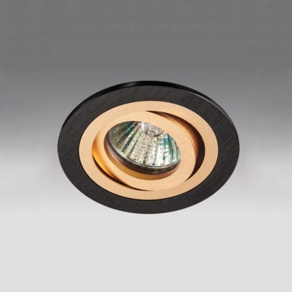 e33256b1bf540456b45e826717129cf6 600x600 - встр. точечный светильник Megalight SAC021D-4 gold/black