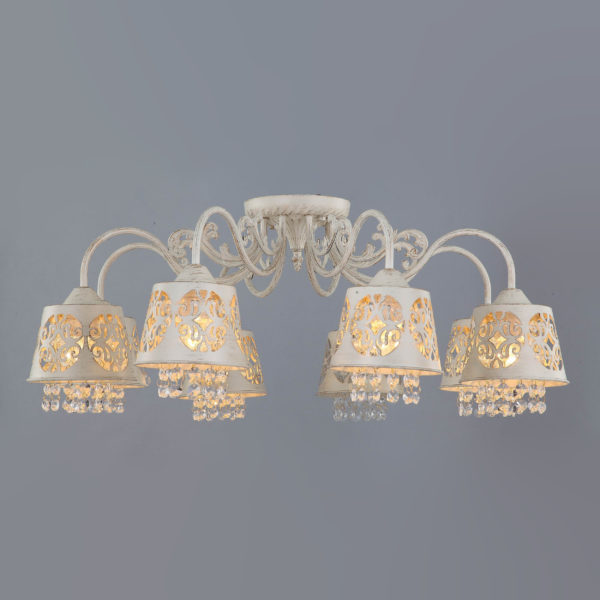 f7136295e4479b6444687e2cf1d00881 600x600 - Люстра потолочная Vestini 5689/8 белое золото