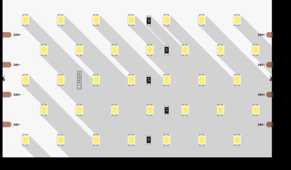 02edc2aac04ba42ffd8d311dfee3d674 600x350 - Лента светодиодная LUX, 2835, 350 LED/м, 31 Вт/м, 24В, IP33, Теп.белый (3000K)