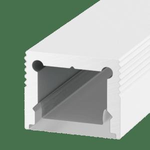 07fdf0c5259786bc20f9ef2463a5e469 300x300 - Накладной алюминиевый профиль LS.1613 белый,  для однорядной ленты
