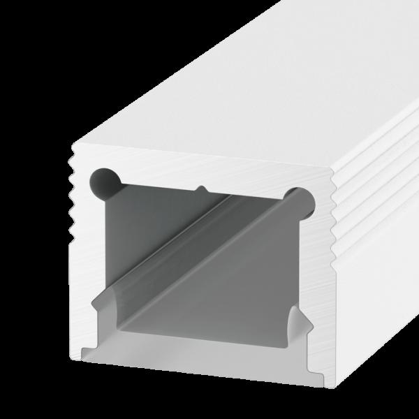 07fdf0c5259786bc20f9ef2463a5e469 600x600 - Накладной алюминиевый профиль LS.1613 белый,  для однорядной ленты